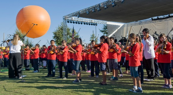 Pacific Symphony performing at the Great Park.